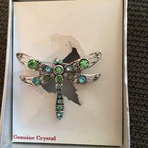 Butterfly pin genuine crystal